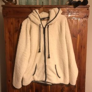American Eagle Plush Full Zip Jacket; Size XXL